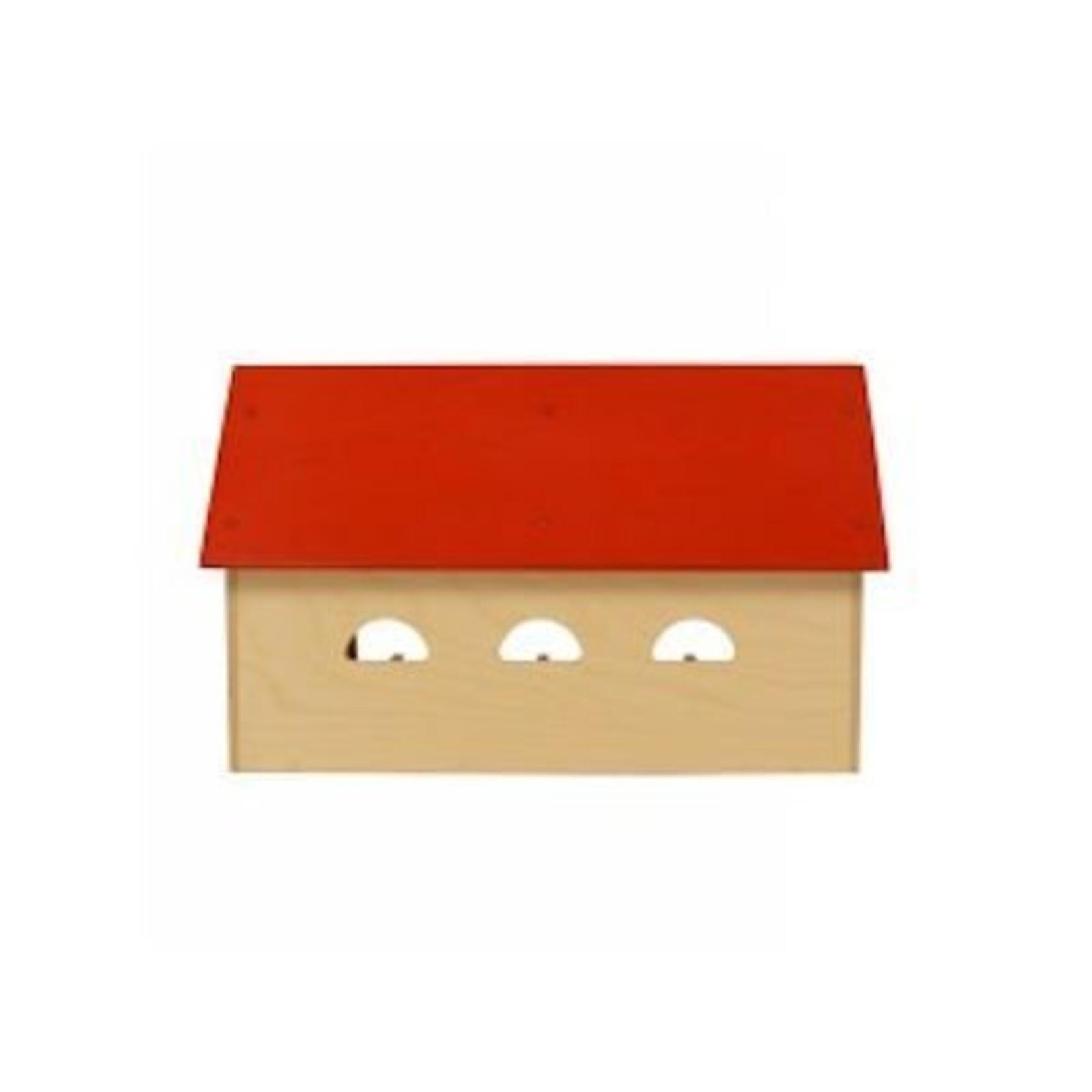 Van Dijk Toys Houten Boerderij - Rood dak