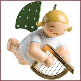Wendt & Kühn Zwevende Grunhainichense Engel met kleine harp