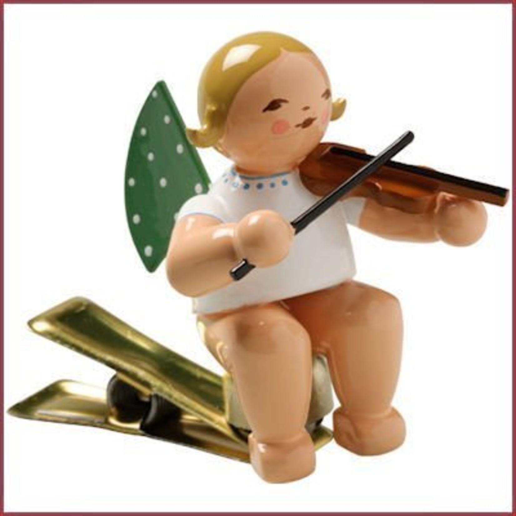 Wendt & Kühn Kerstboomknijpertje Grunhainichense Engel met viool