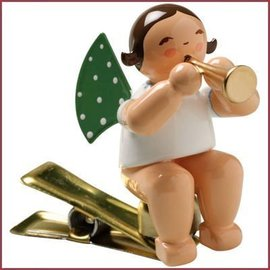 Wendt & Kühn Grunhainichense Engel op klem met fluit