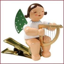 Wendt & Kühn Kerstboomknijpertje Grunhainichense Engel met harp