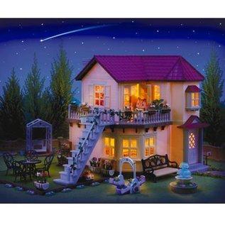Sylvanian Families City House met verlichting en inrichting