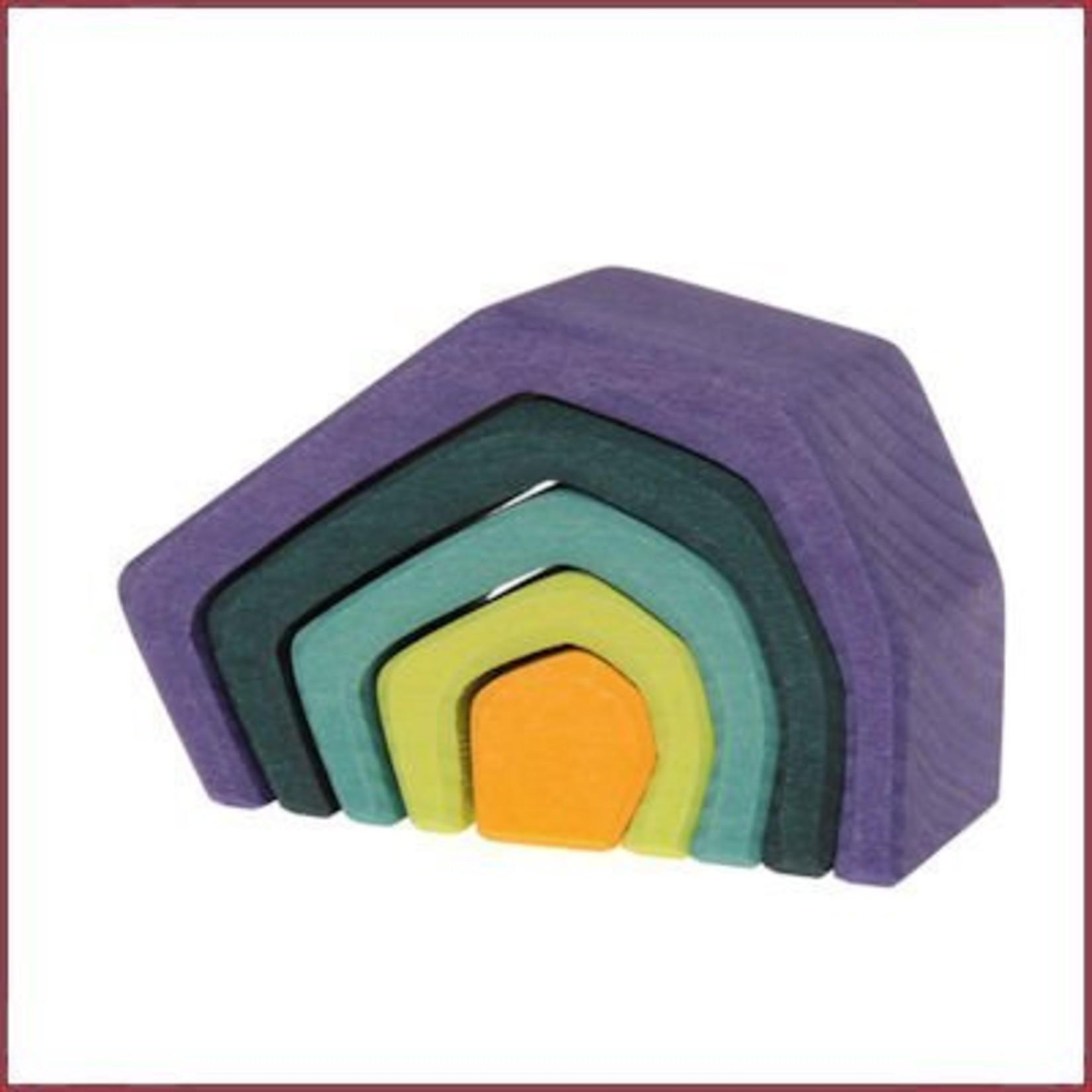 Grimm's Houten stapelblokken Aarde - Klein