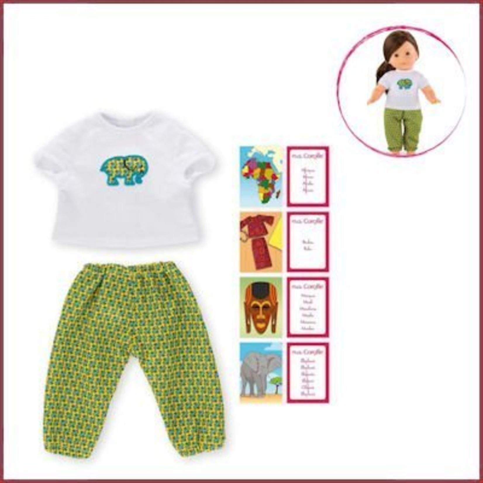 Corolle Pyjama Afrika voor Ma Corolle poppen (36 cm)