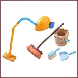 Haba Little Friends schoonmaakset voor poppenhuis