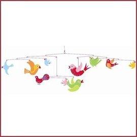 Djeco Mobiel kleurrijke vogeltjes