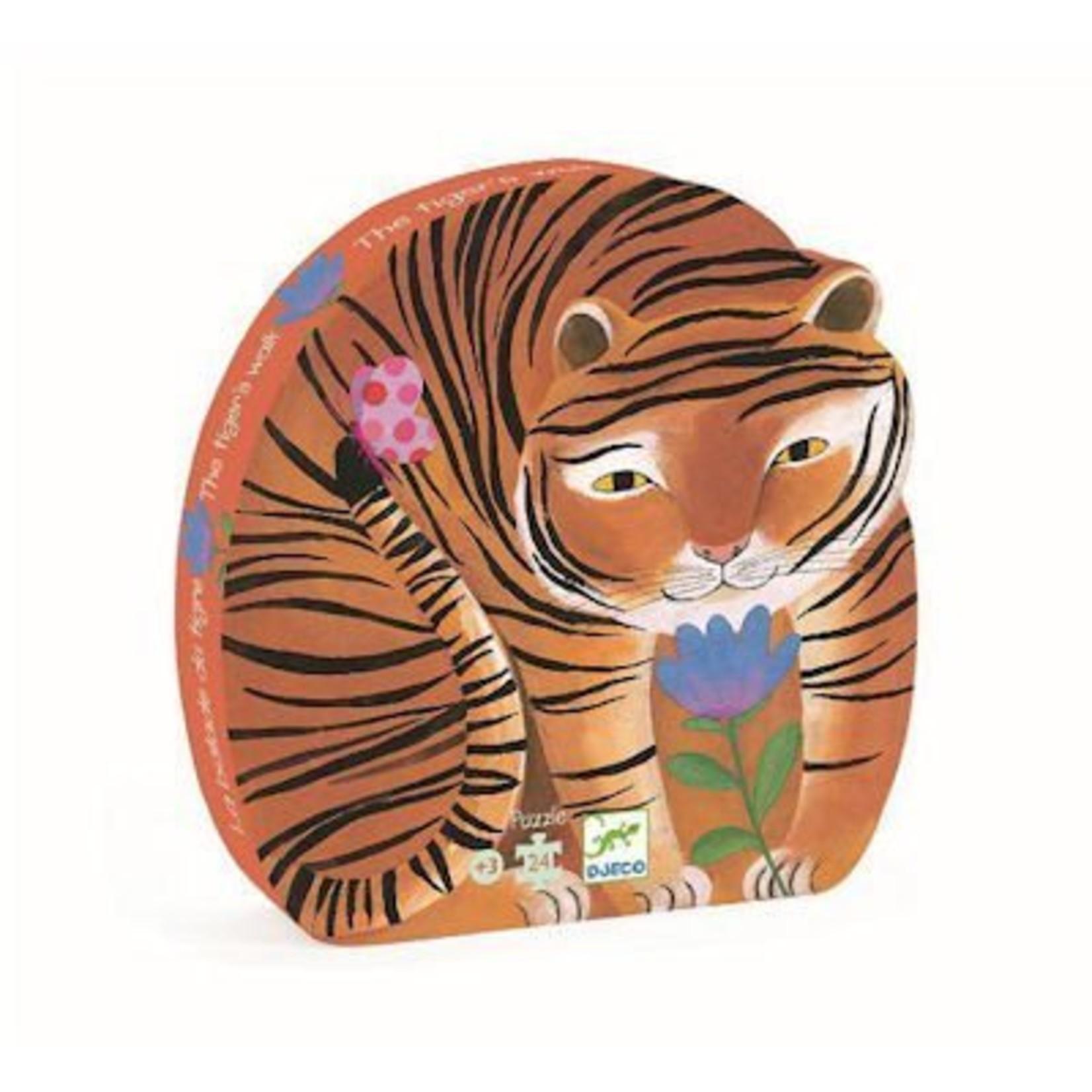 Djeco Puzzel De wandeling van de tijger 24 stukjes