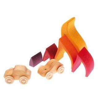 Grimm's Houten stapelblokken Vuur