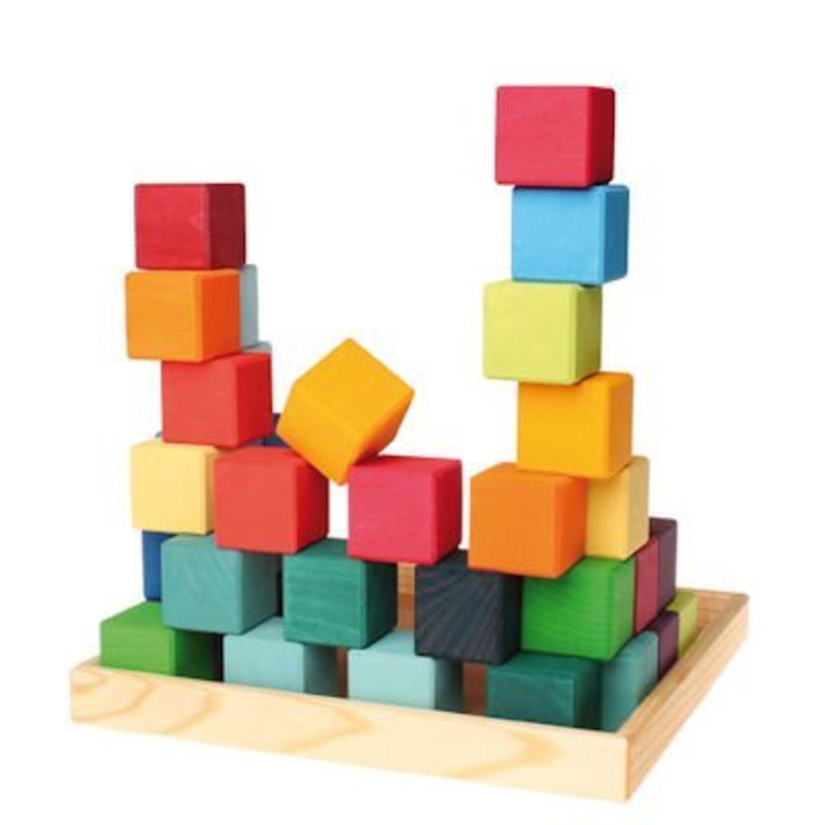 Grimm's Vierkante blokkenset - 36 delig