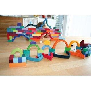 Grimm's Houten blokkenset Pyramide - Klein