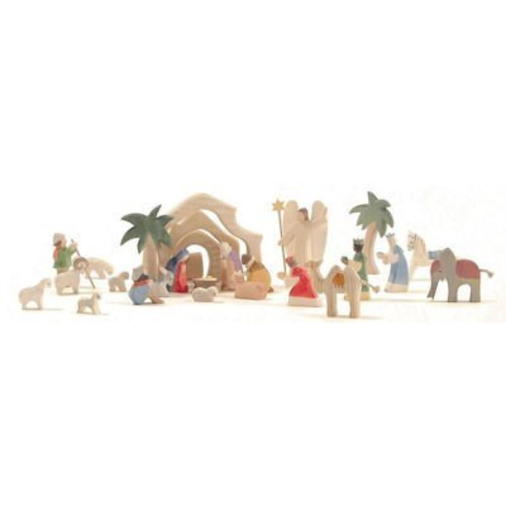 Ostheimer Houten kerststal mini - 4-delig