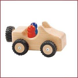Ostheimer Jeep met rubberbanden