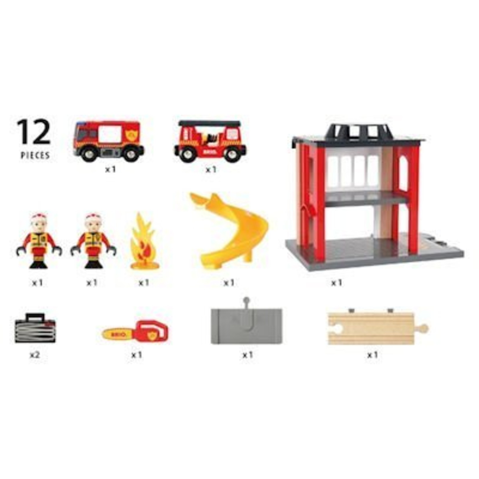 Brio Brandweerkazerne met accessoires