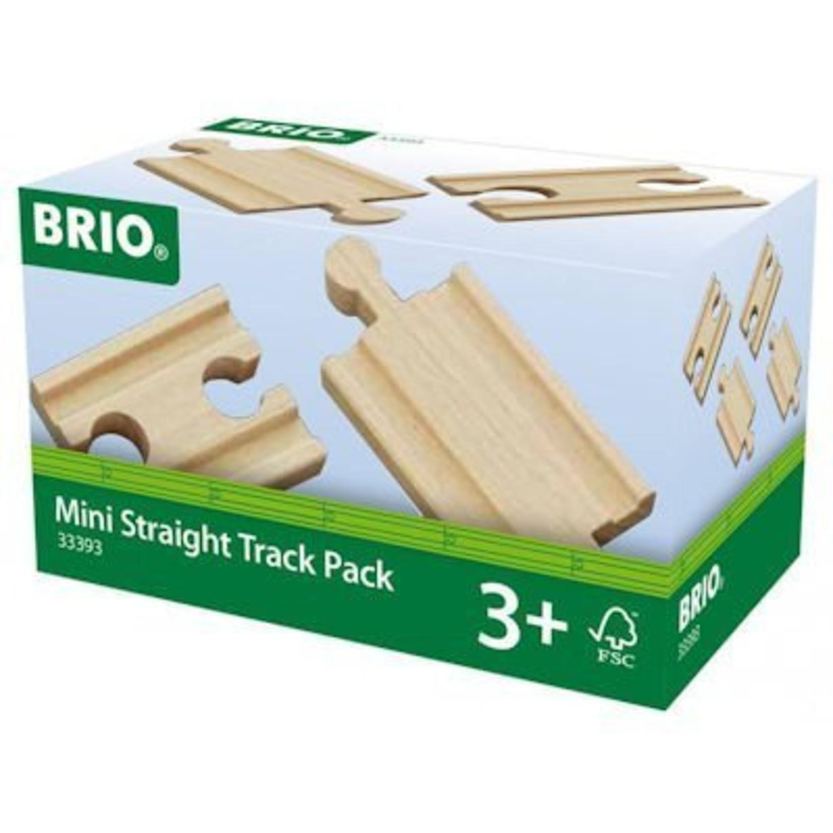 Brio Rail-uitbreidingsset Mini Straight Track pack