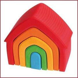 Grimm's Houten huis - gekleurd