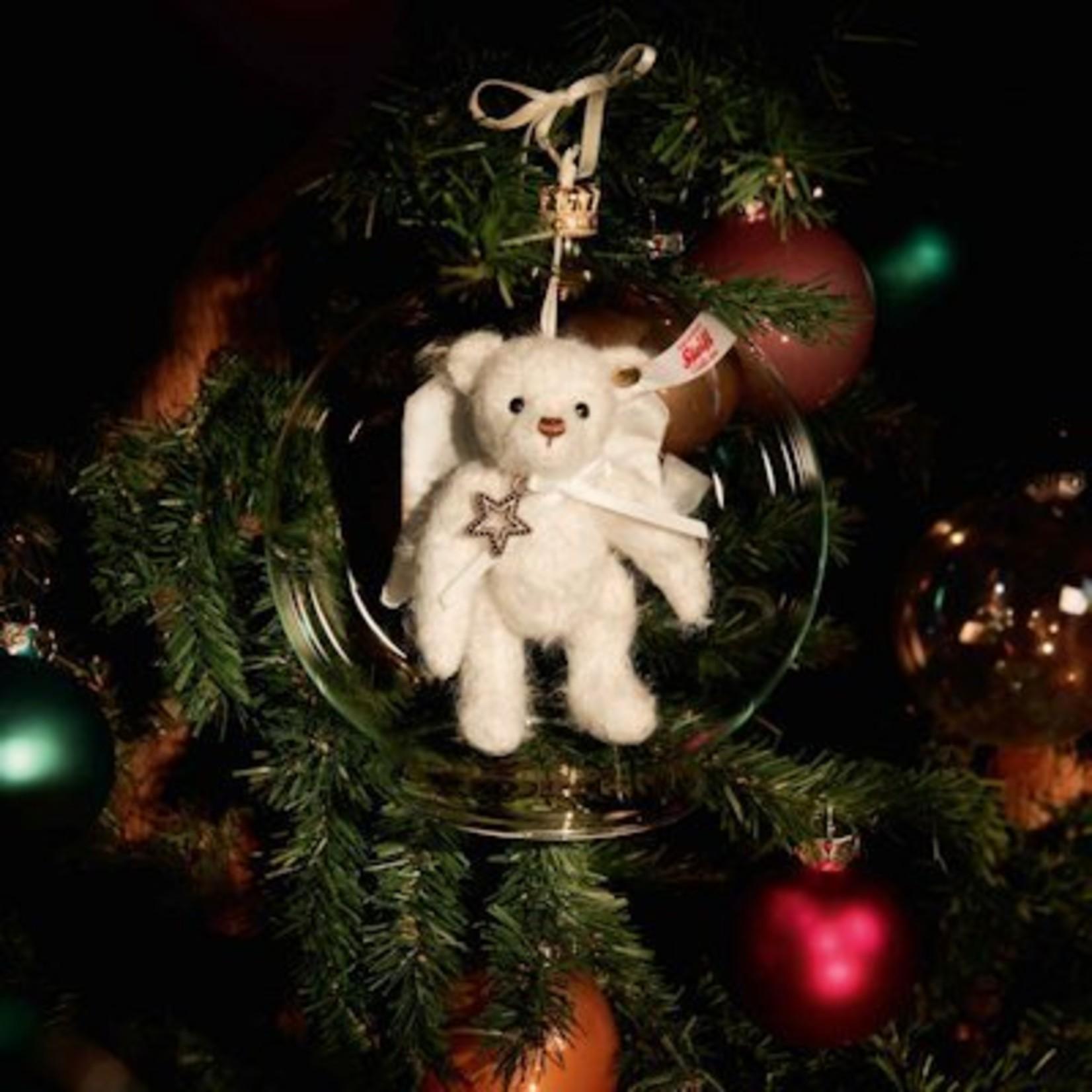 Steiff Teddybeer Gabriel moh.wit, in Glazen Bol
