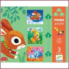 Djeco Puzzel 3,4,5 stukjes 'in de tuin'