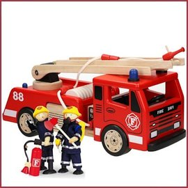 Brandweerauto 40cm (zonder popjes)