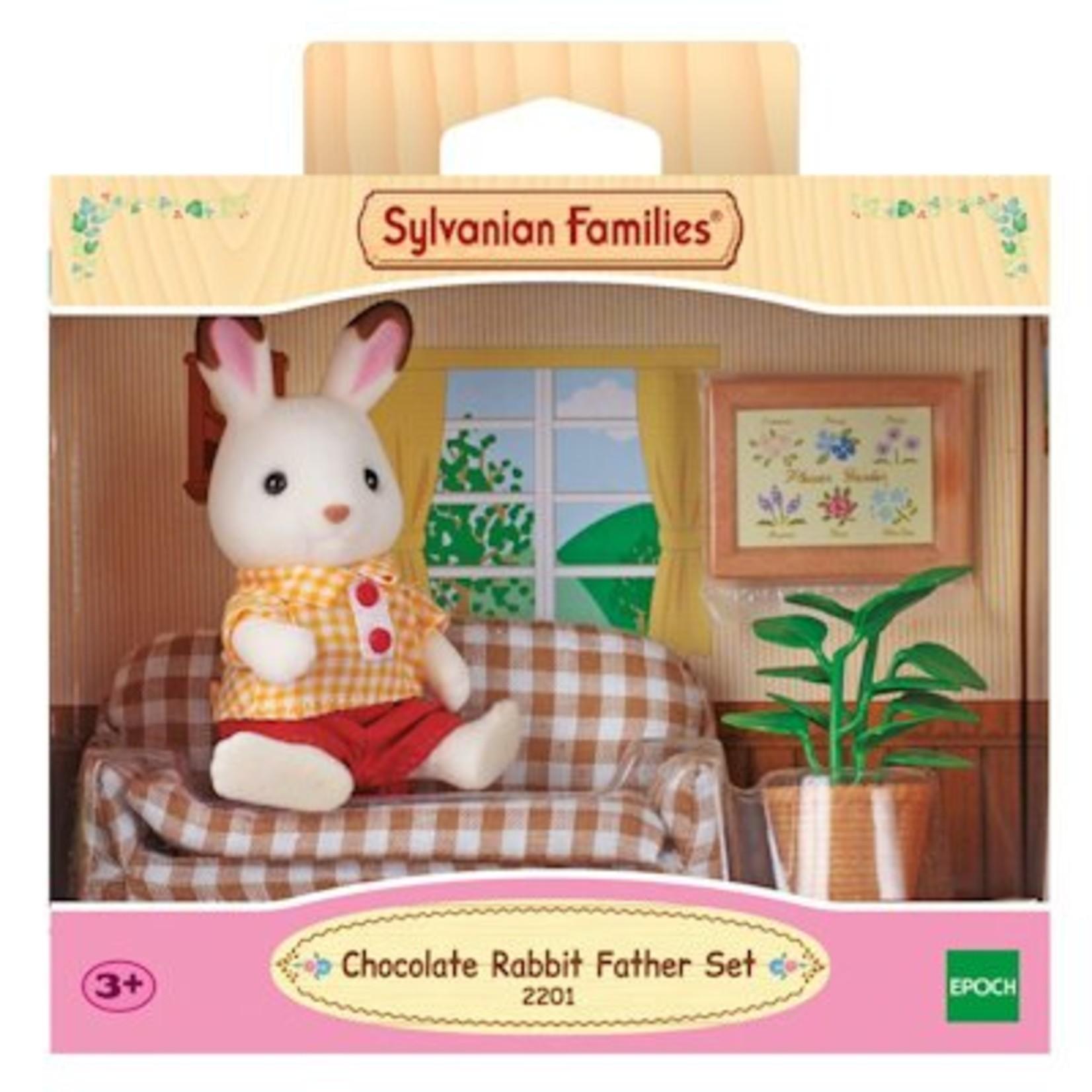 Sylvanian Families Chocolate Rabbit Father Set