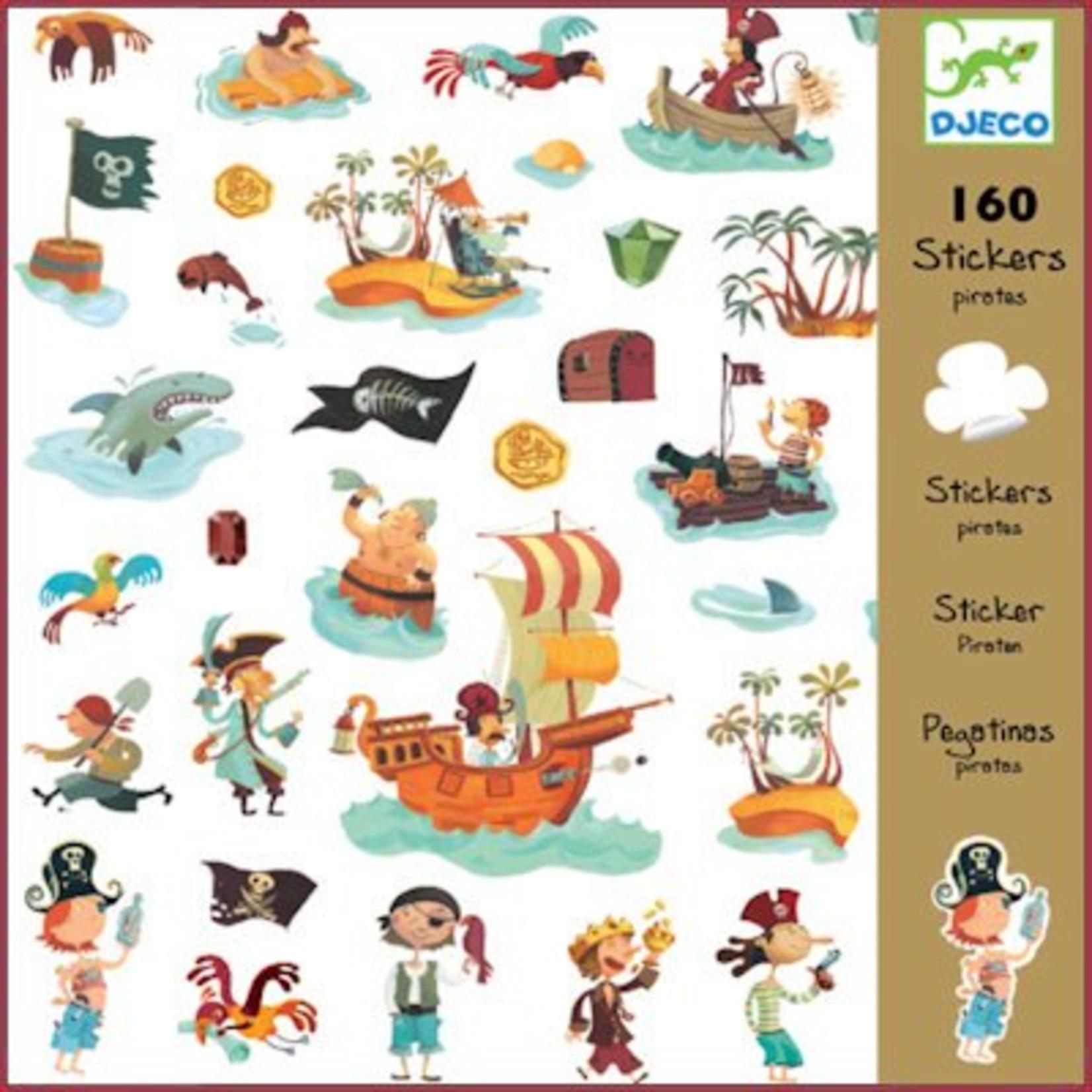 Djeco Stickers Piraten