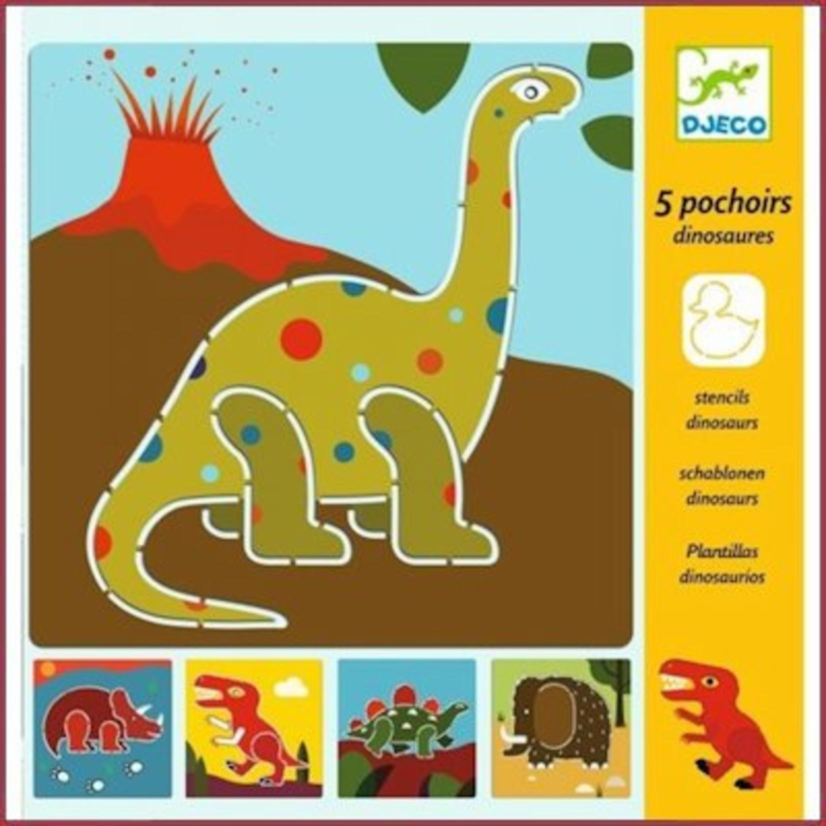 Djeco Sjablonen Dinosaurussen