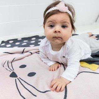 Lässig Gebreide babydeken/blanket Little Chums Mouse