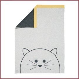Lässig Gebreide ledikant deken/blanket Little Chums Cat