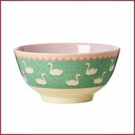 Rice Rice Bowl Two Tone Medium - Swan print