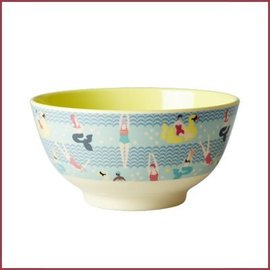 Rice Rice Bowl Two Tone Medium - Swimster Yellow & BLue print