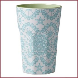 Rice Rice Cup Two Tone Tall - Mi Lace Print