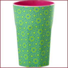 Rice Rice Cup Two Tone Tall - Green and Turquoise Marrakesh Print