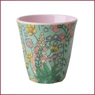 Rice Rice Cup Two Tone Medium - Lupine print