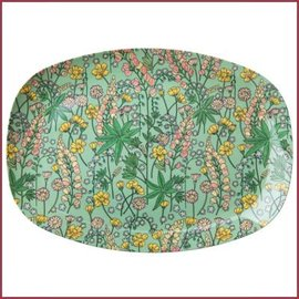 Rice Rice Rectangular Plate with Lupin Print