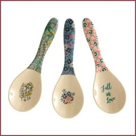 Rice Melanine Salad Spoon Boogie Print