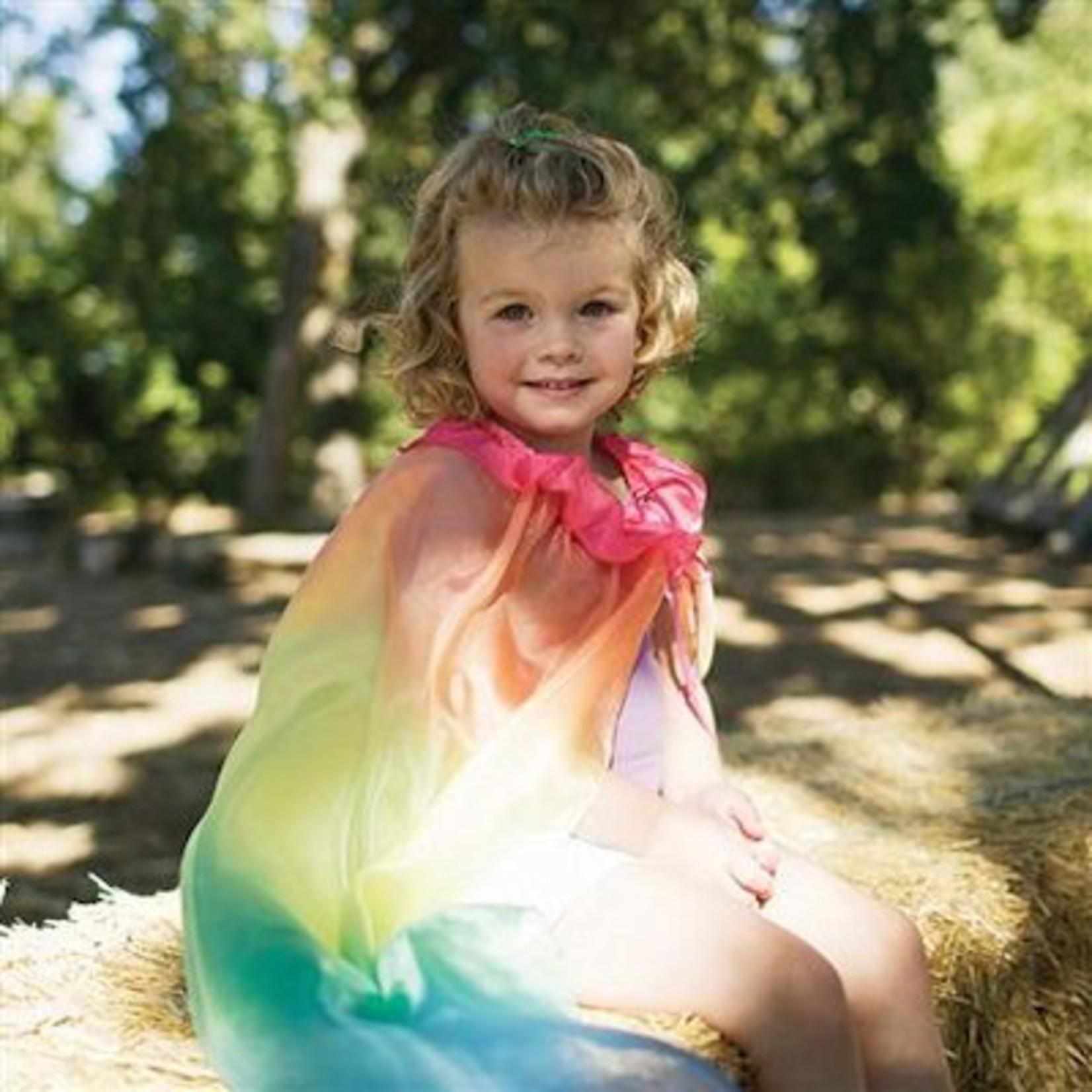 Sarah's Silk Sarah's Silk speelcape zijde regenboogkleuren