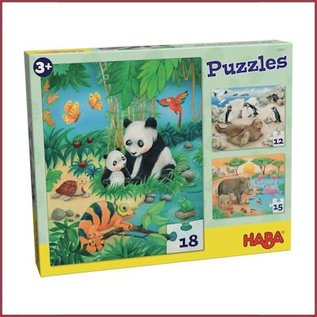 Haba Puzzel Dierenfamilies