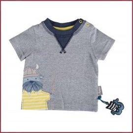 Sigikid T-Shirt blauw streepje, walrus