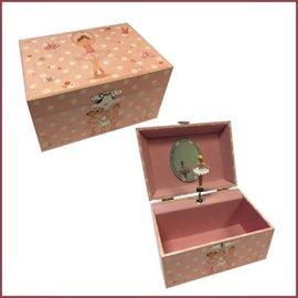 Harlekijn Juwelendoosje roze stippen