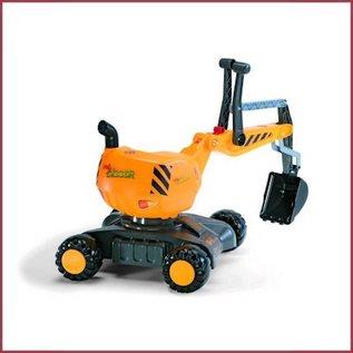 Rolly Toys Digger Graafmachine op wielen geel