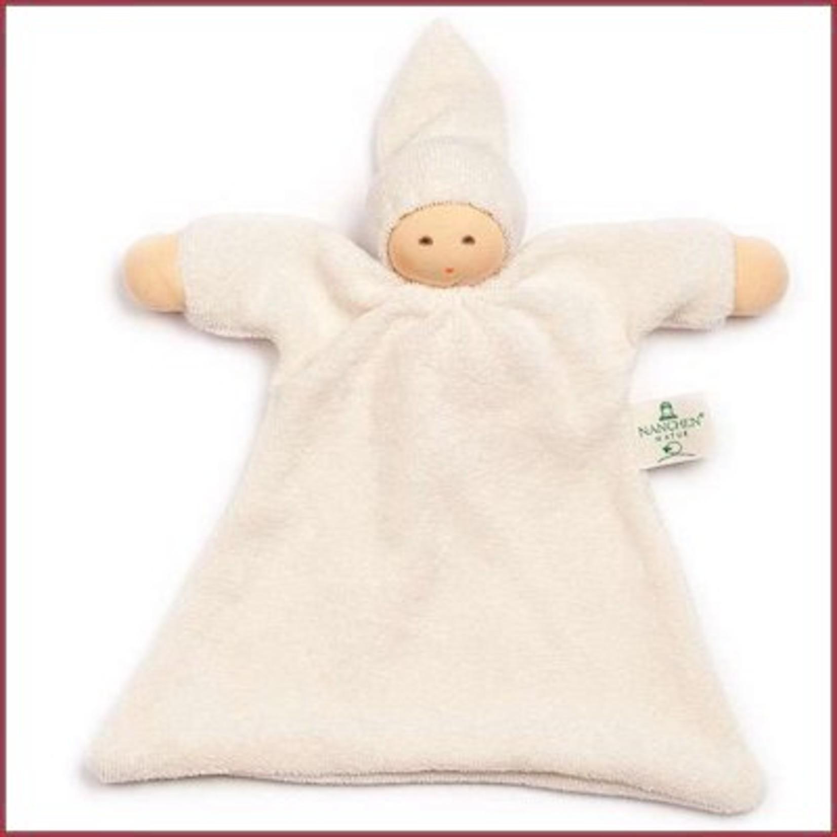 Nanchen Natur Knuffelpopje wit