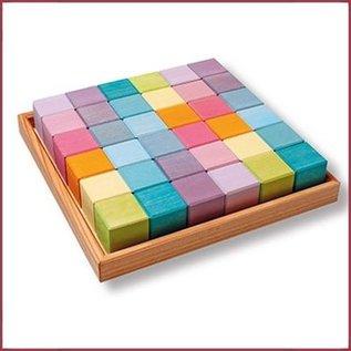 Grimm's Vierkante blokkenset - 36 delig Pastel