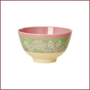 Rice Rice Bowl Two Tone Small - Butterfly & Flower print