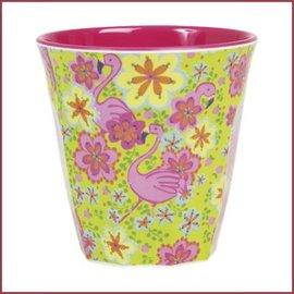 Rice Rice Cup Two Tone Medium - Flamingo Print