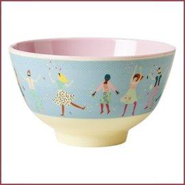 Rice Rice Bowl TwoTone Small - Dancers print