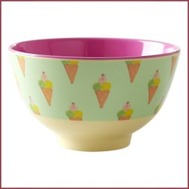 Rice Rice Bowl Two Tone Small  - Ice Cream Print