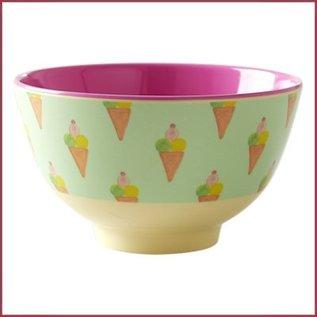 Rice Rice Bowl Two Tone Small  - Ice Cream Print