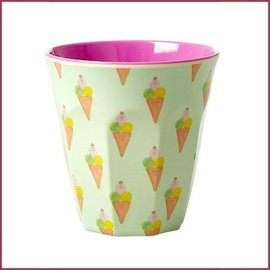 Rice Rice Cup Two Tone Medium - Ice Cream Print