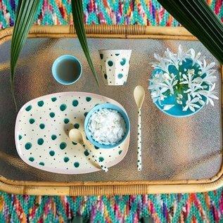 Rice Rice Cup Two Tone Medium - Watercolor Splash Print