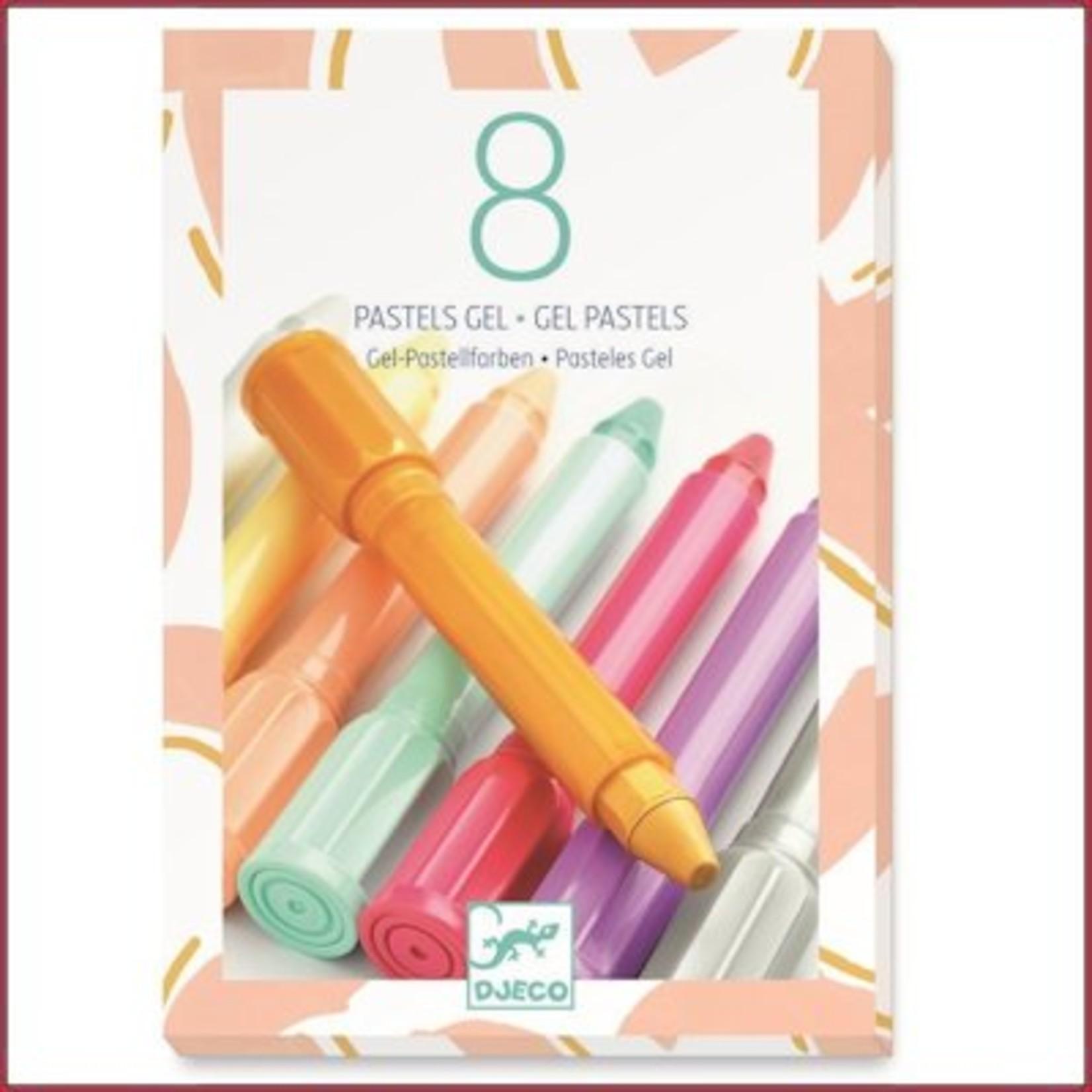 Djeco 8 Gel Pastels Sweet Colours