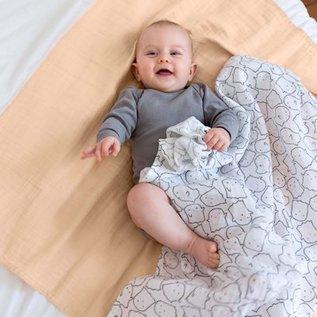 Lässig Swaddle & Burp blanket XL Little Spookies peach